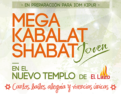 Mega Kabalar Shabat Joven El Lazo Jovenes Judios