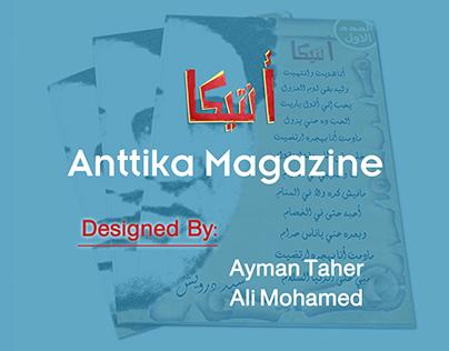 Anttika Magazine Design