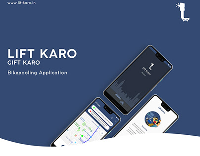 Bikepool App - Lift Karo | UI/UX & Development
