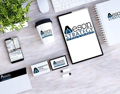Aeson Strategy Logo & Business card design