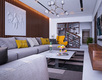 Living Room in Royal meadows compound