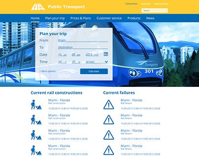 Public Transport Webdesign