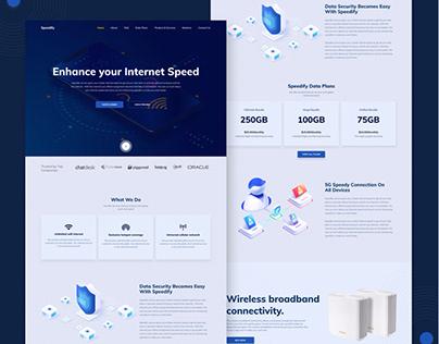 Speedify Landing Page design