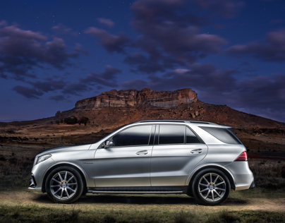 Mercedes-Benz GLE AMG location shoot.