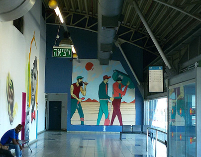 STREET TARDIS // art act in tlv main station