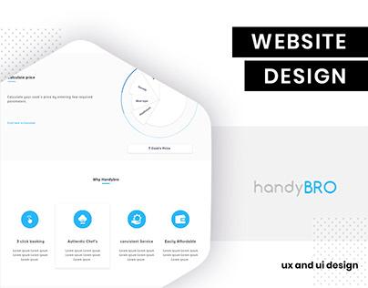 UI/UX Design for handyBro by brandzGarage