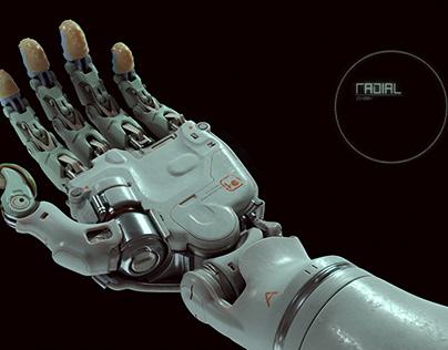 Radial BRY Prosthetic hand