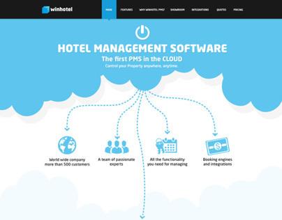 Winhotel Product landing page