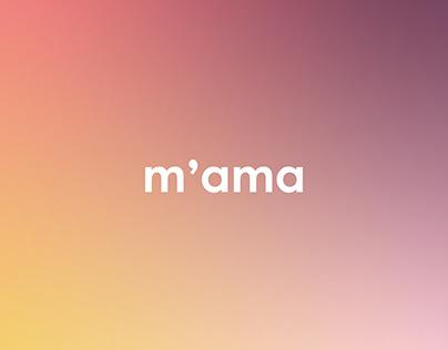 m'ama - Brand Identity - 2020