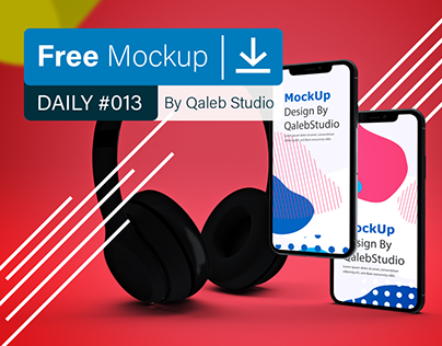 Free Abstract Music App MockUp