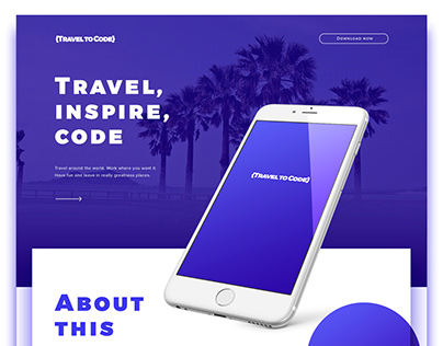 {Travel to Code} App and Website Design