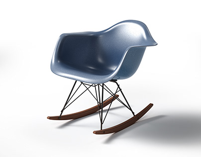 Eames rocking armchair modelling/rendering exercise