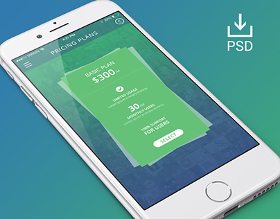 Pricing Table Screen for iOS
