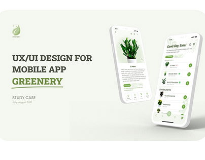 UX/UI Design Mobile App For Plant Care