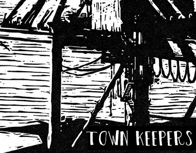Town Keepers | Linoleum prints