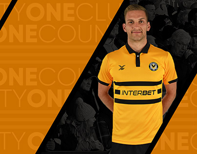 Newport County 2018/19 Kit Release Shopify graphics