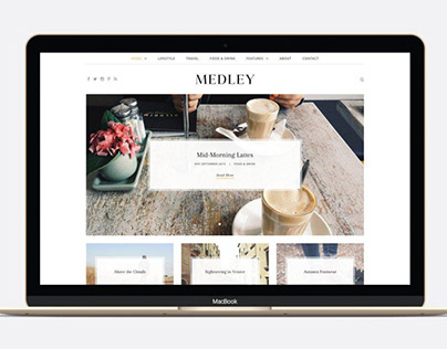 Medley - Beautiful WP Blogging Theme