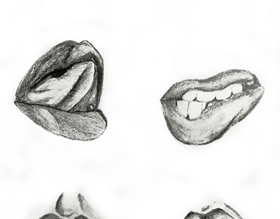 Hand Drawn Face Features