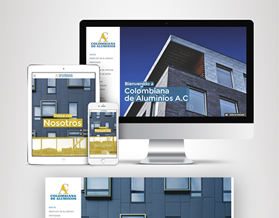 Diseño Web - colombiana de aluminios - Involto Agencia