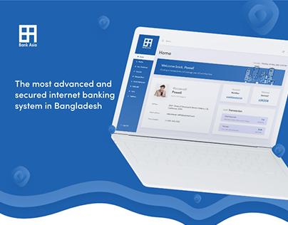 Bank Asia - Internet Banking Dashboard & Landing Page