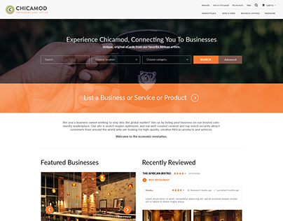 Chicamod web design