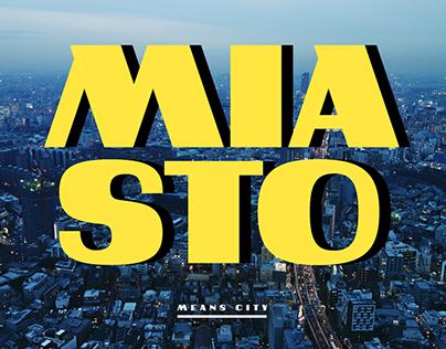 Miasto typeface