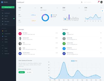 Annex Bootstrap Admin Dashboard Template