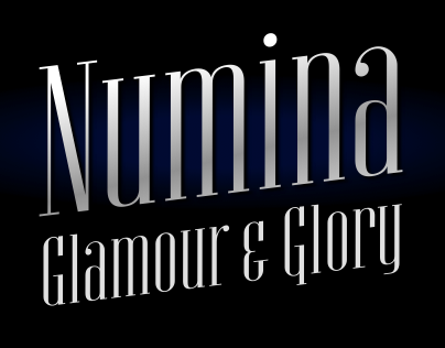 Numina — an elegant display font in two faces