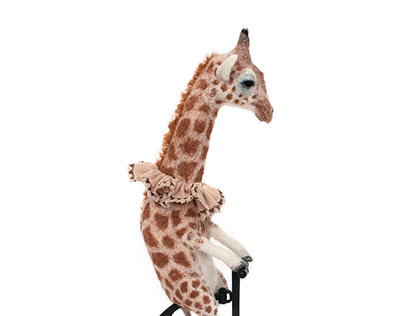 Felt Giraffe On Wheels