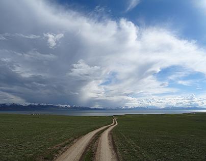 Lake Song Kol in Kyrgyzstan