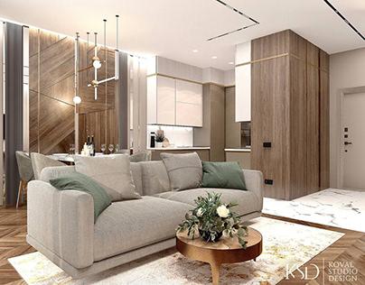 Дизайн интерьера квартиры. ЖК Taryan Towers