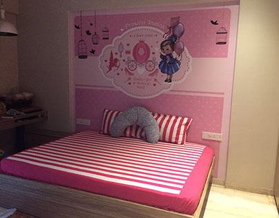 Customised baby girl wallpaper, Pune