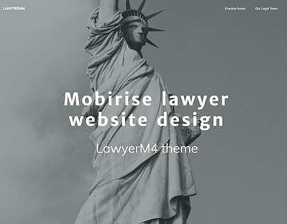 Mobirise lawyer website design - LawyerM4 theme