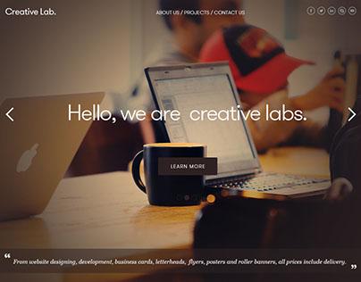 Creative Lab homepage designed.