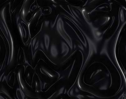 Abstract Cloth Magical Wall -Elegant Black-