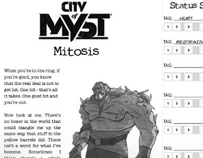 City of Myst RPG playbooks