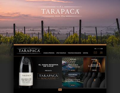 Website Viña Tarapacá