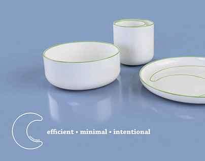 Crescent: Dinnerware for Microapartments