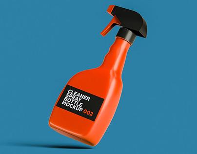 Cleaner Spray Bottle Mockup