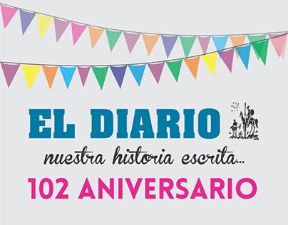 El Diario, Paraná, ER - 102 aniversario