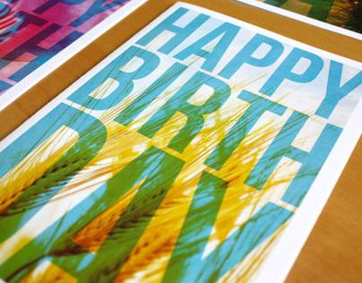 Happy Birthday! - Greeting Card Design