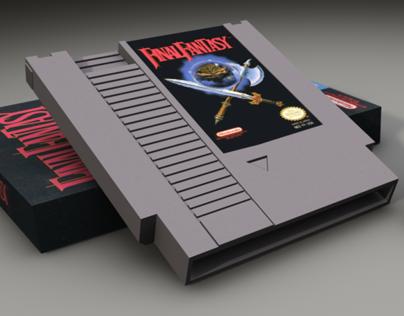 3D Final Fantasy Box and Cartridge