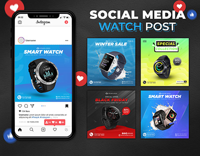 Watch Social Media Post Design