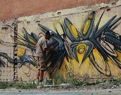 Spatial graffiti on the wall