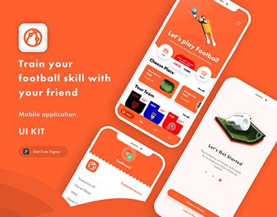 Free Mobile App | UI/UX Booking Field App | UI KIT