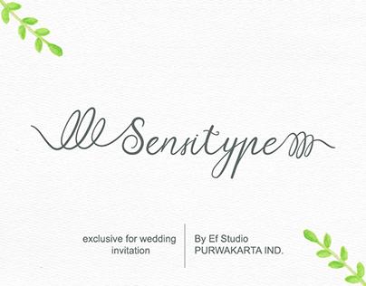 Sensitype - Wedding Font