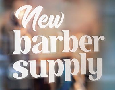 New Barber Supply Logo Design Process 2017