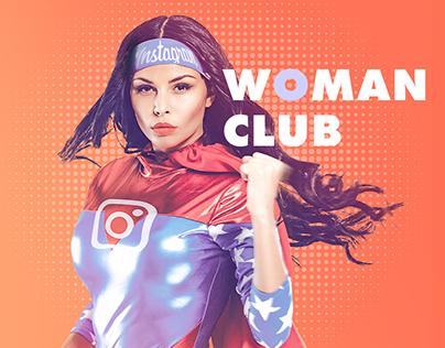 Female club. Landing page.