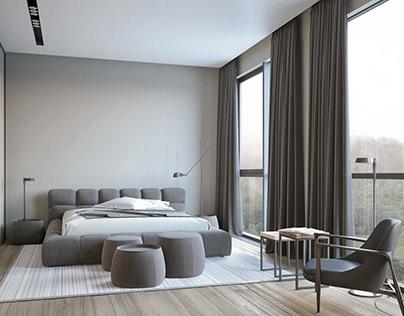 Contemporary bedroom in Dnepr.