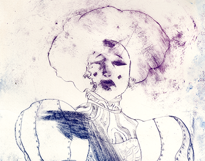 Analogue works - drypoint prints